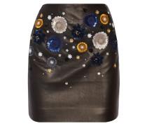 Linard Embellished Leather Mini Skirt Schwarz
