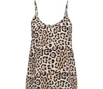 Leopard-print Silk-charmeuse Camisole