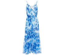 Laurel Tie-dyed Silk-chiffon Midi Dress