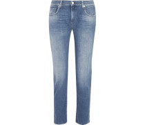 Faded Boyfriend Jeans Mittelblauer Denim
