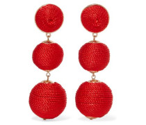 Gold-tone woven earrings