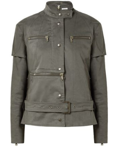 Convertible Cotton-blend Jacket Army Green
