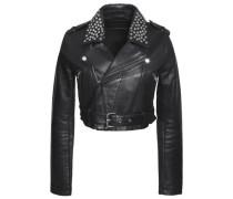 Bloodya cropped studded leather biker jacket
