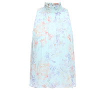 Annmarie Floral-print Crinkled-chiffon Top
