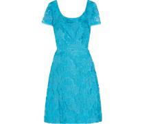 Embroidered Tulle Dress Türkis