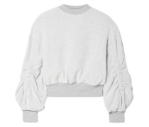 Sunnyside Ruched Cotton-blend Terry Sweatshirt