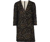 Riska Bead-embellished Devoré-velvet Mini Dress