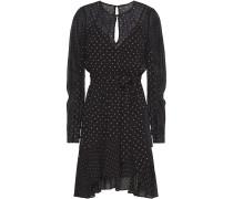 Candace Asymmetric Polka-dot Chiffon Mini Dress