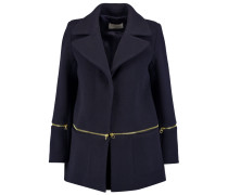 Mael Zip-detailed Wool-blend Coat Rauchblau