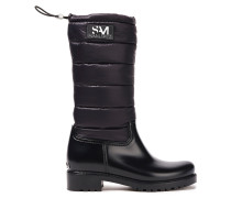 Matte Rubber And Quilted Shell Snow Boots