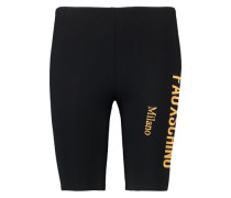 Cropped embroidered modal-blend jersey leggings
