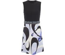 Embellished Printed Ponte Mini Dress