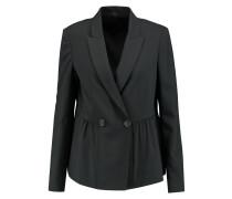 Woven Silk-blend Blazer Schwarz