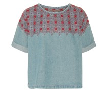 The Embroidered Denim Top
