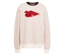 Brushed  Jacquard-knit Mohair-blend Sweater