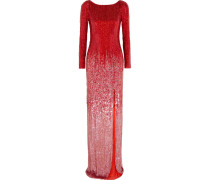 Sequined Silk-voile Gown Rot