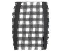 Gingham stretch-cotton mini skirt