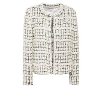 Juliana Metallic Bouclé-tweed Jacket