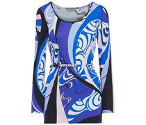 Belted Printed Jersey Tunic