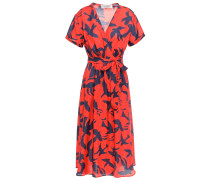 Bird Jacques Printed Cotton And Silk-blend Twill Wrap Dress