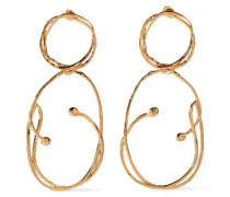 Hammered gold-tone earrings