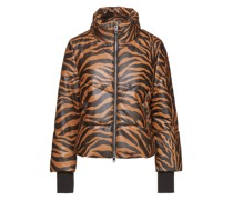 Edwina Tiger-print Leather Jacket