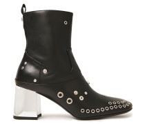 Phuture Embellished Leather Ankle Boots