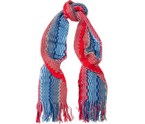 Crochet-knit Cotton Scarf Mehrfarbig