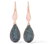 Stellar Rose Gold-tone Crystal Earrings Blau