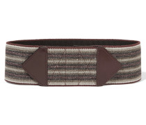 Hank Canvas Belt Burgunder