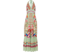 Chimera embroidered silk-chiffon maxi dress
