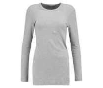 Brushed Cotton-blend Sweater Grau