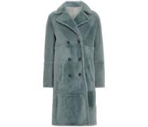 Doppelreihiger Mantel aus Shearling