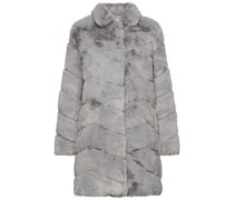 Mantel aus Gestepptem Kunstfell