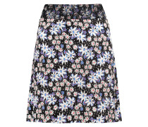Oops A Daisy Embroidered Printed Silk-blend Crepe Skirt Himmelblau
