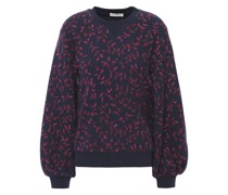 Ebba Printed French Cotton-terry Sweatshirt
