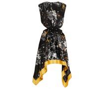 Solace Minikleid aus Bedrucktem Seidensatin mit Cut-outs