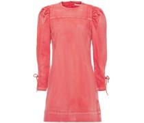 Manon Lace-up Faded Denim Mini Dress