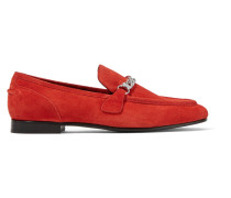 Cooper Suede Loafers Tomatenrot