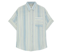 Lenny Striped Cotton-gauze Shirt