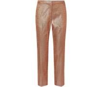 Poumas Lamé Straight-leg Pants