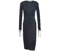 Cutout Ruched Jersey Dress