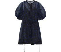 Rayne Gathered Polka-dot Silk-organza Mini Dress