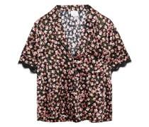 Pyjama-oberteil aus Charmeuse aus Einer Seidenmischung mit Floralem Print