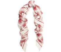 Diamonds Printed Modal And Cashmere-blend Scarf Bordeaux