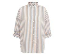 Hemd aus Baumwoll-voile mit Streifen