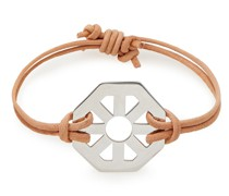 -tone And Suede Bracelet