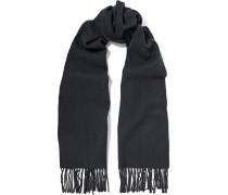Fringed Wool-felt Scarf Mitternachtsblau