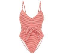 Gamela Badeanzug mit Streifen und Gürtel