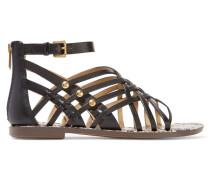 Gardener Stud-embellished Leather Sandals Schwarz